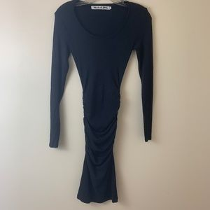 Michael Stars Ruched Gypsy Dress Long Sleeve SZ xs